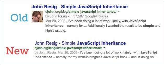 Nuova e vecchia authorship di google