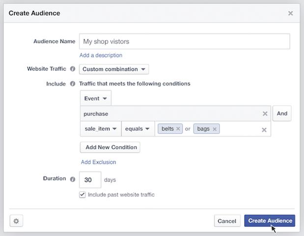 facebook ads pubblico personalizzato