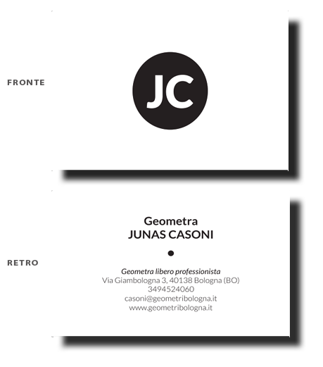 Geometra Casoni business card