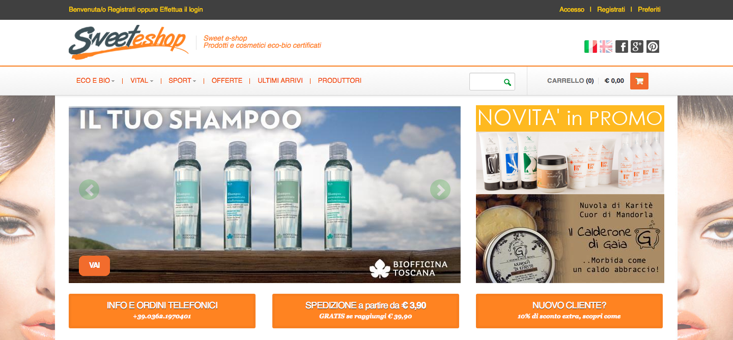 Sweet e-shop prodotti e cosmetici biologici