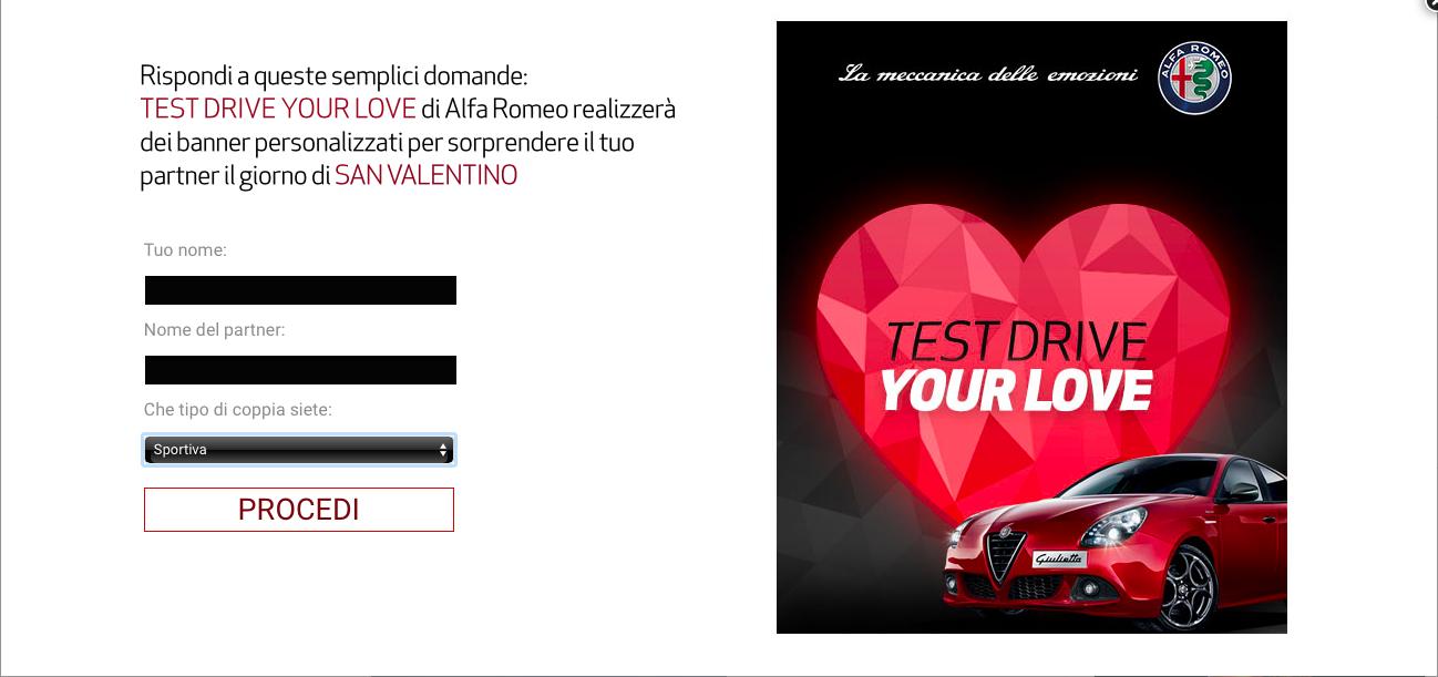 adwords san valentino alfa roma